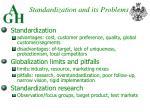 standardization and its problems