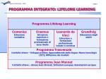programma integrato lifelong learning