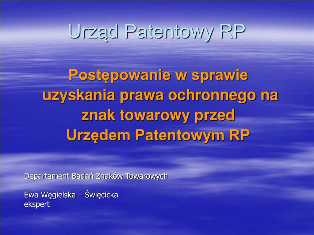 urz d patentowy rp l.