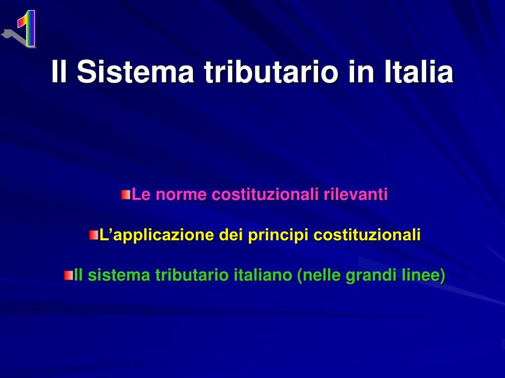 il sistema tributario in italia l.
