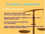 la struttura organizzativa30