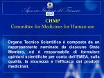 chmp committee for medicines for human use