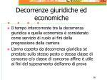 decorrenze giuridiche ed economiche56