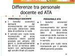 differenze tra personale docente ed ata