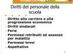 diritti del personale della scuola
