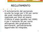 reclutamento