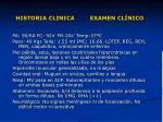 historia clinica examen cl nico