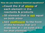 how do you balance chemical equations