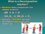what is a decomposition reaction
