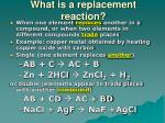 what is a replacement reaction