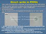 direct write in pmma