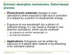 extrinsic absorption mechanisms defect based process