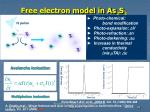 free electron model in as 2 s 3