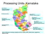 processing units karnataka
