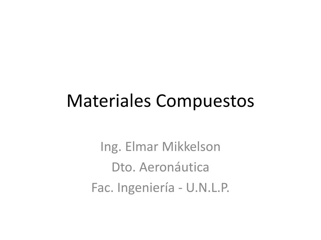 materiales compuestos l.