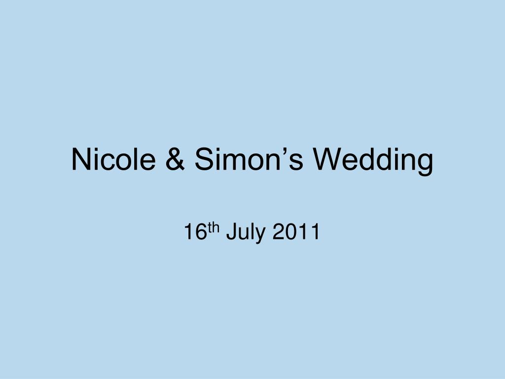 nicole simon s wedding l.