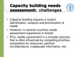 capacity building needs assessment challenges