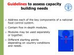 guidelines to assess capacity building needs