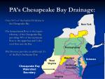 pa s chesapeake bay drainage