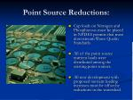 point source reductions