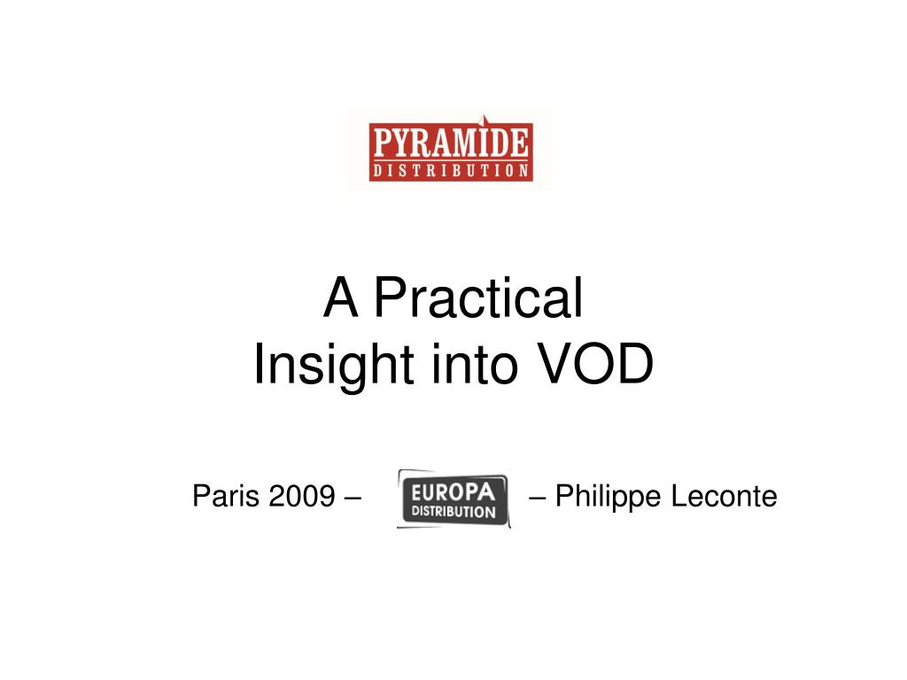 a practical insight into vod l.