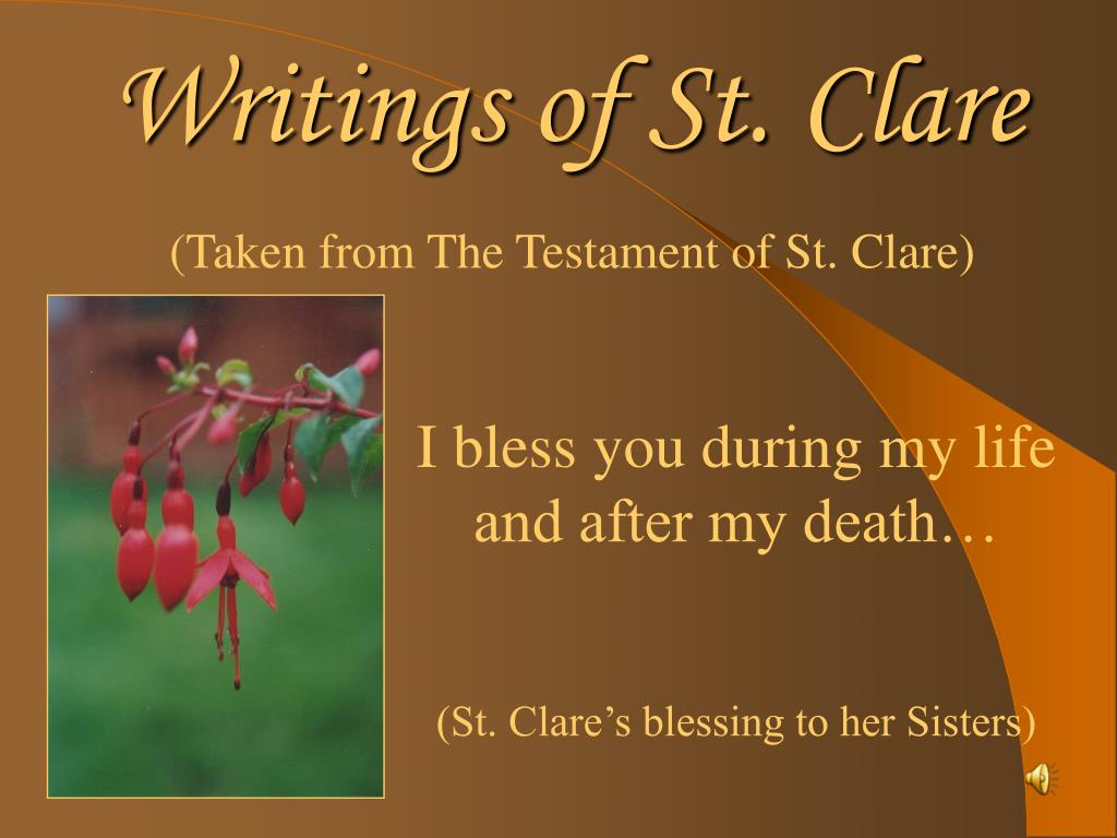 writings of st clare l.