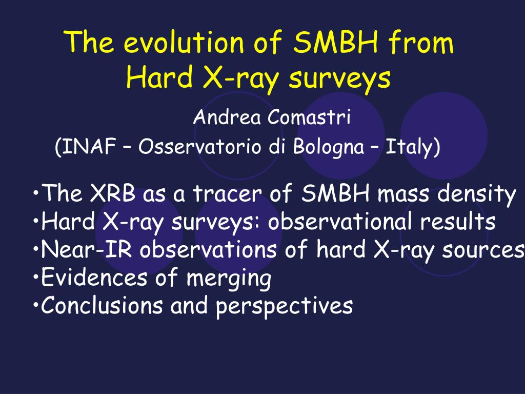 the evolution of smbh from hard x ray surveys l.