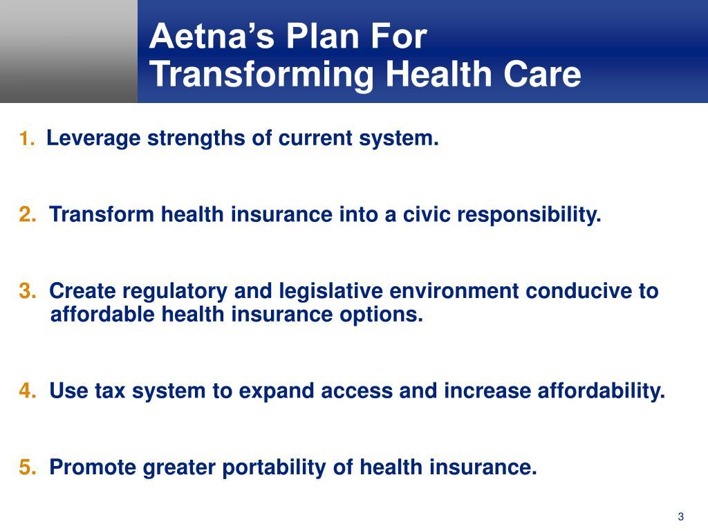 Aetna's Plan For