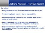 aetna s platform to your health