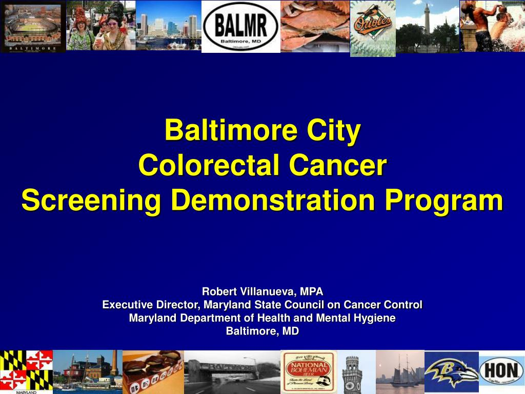 baltimore city colorectal cancer screening demonstration program l.