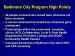baltimore city program high points
