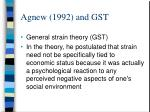 agnew 1992 and gst