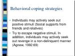 behavioral coping strategies