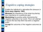 cognitive coping strategies