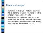 empirical support