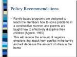 policy recommendations32