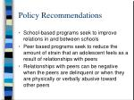 policy recommendations33