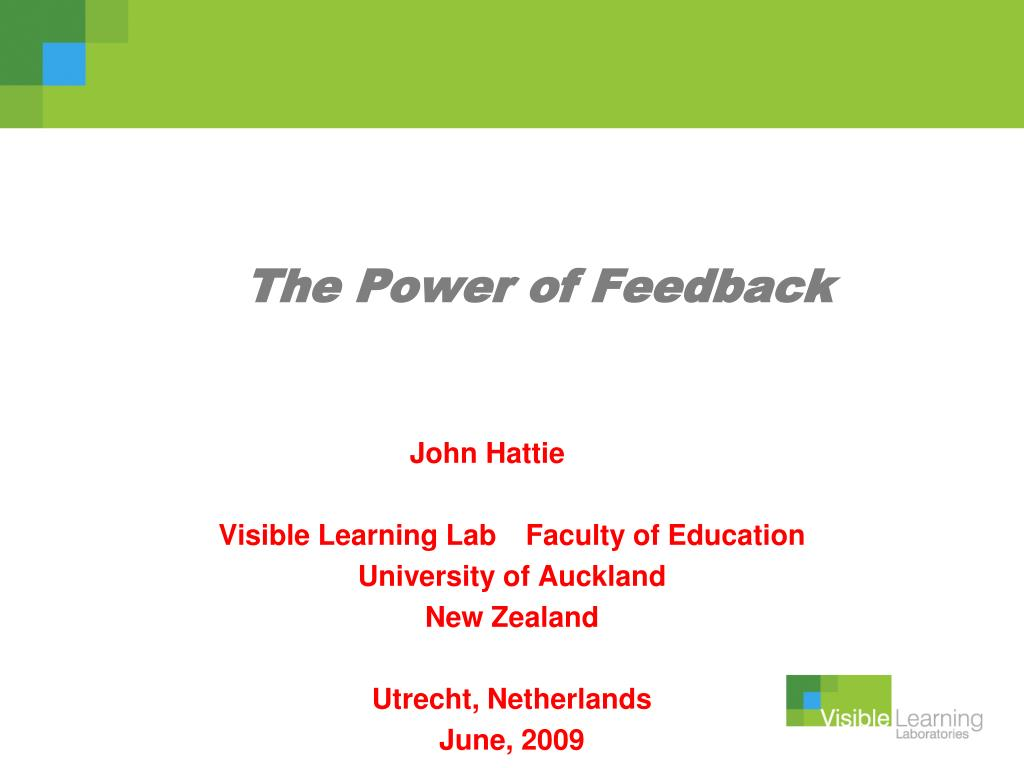 the power of feedback l.