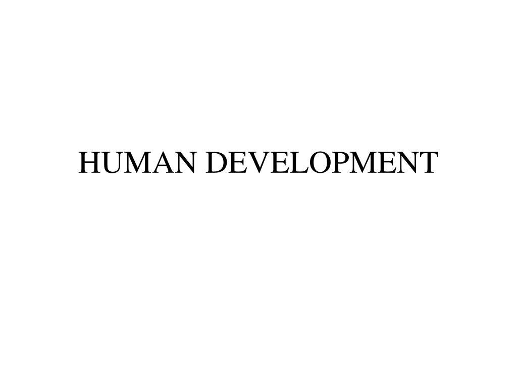 human development l.