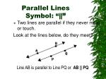 parallel lines symbol