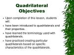 quadrilateral objectives