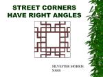 street corners have right angles