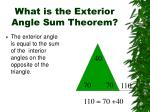 what is the exterior angle sum theorem