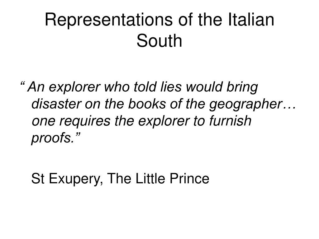representations of the italian south l.