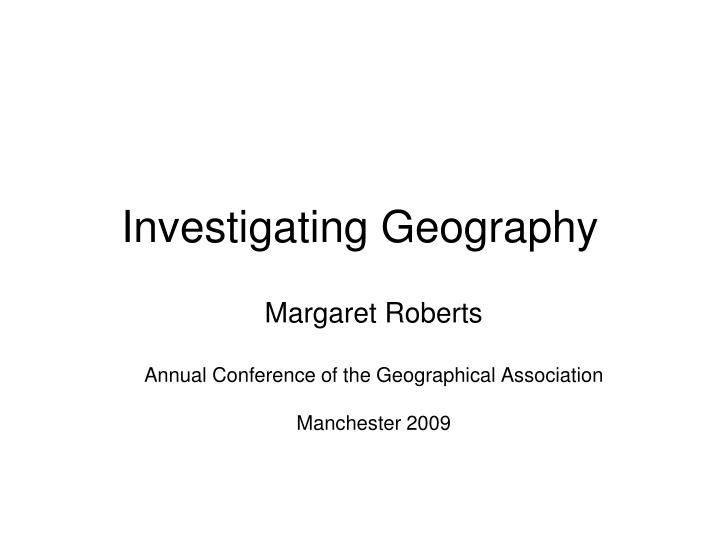 investigating geography n.