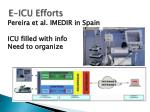 e icu efforts