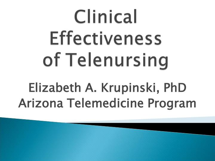elizabeth a krupinski phd arizona telemedicine program n.