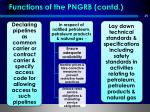 functions of the pngrb contd