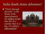 india south asian adventure