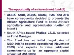 the opportunity of an investment fund 3